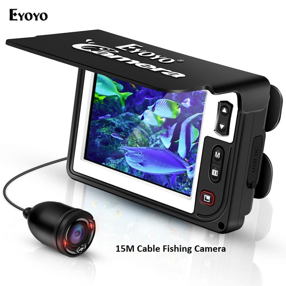 Eyoyo Portable caméra de pêche sous-marine vidéo détecteur de poisson 3.5 pouces moniteur LCD étanche 1000 TVL HD caméra pour la pêche
