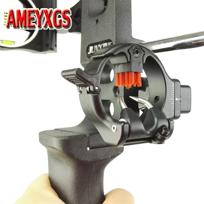Tiro con l'arco Freccia Rest Micro Adjustable Capture Brush Freccia destra Rest Hunter Compound Bow Caccia Accessori per tiro