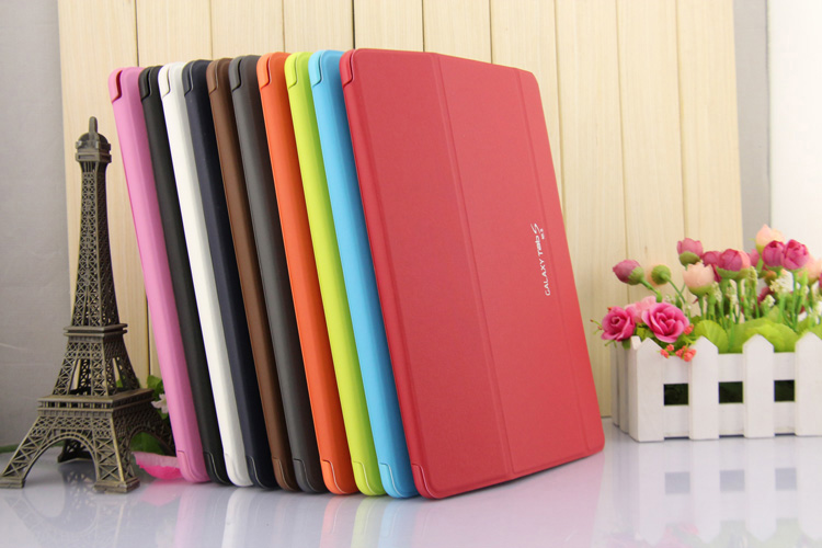 NEW Smart Cover Book Cover Case For Samsung Galaxy Tab S 10.5 T800 Leather Protective Skin For Tablet S 10.5 Inch T805 FREE