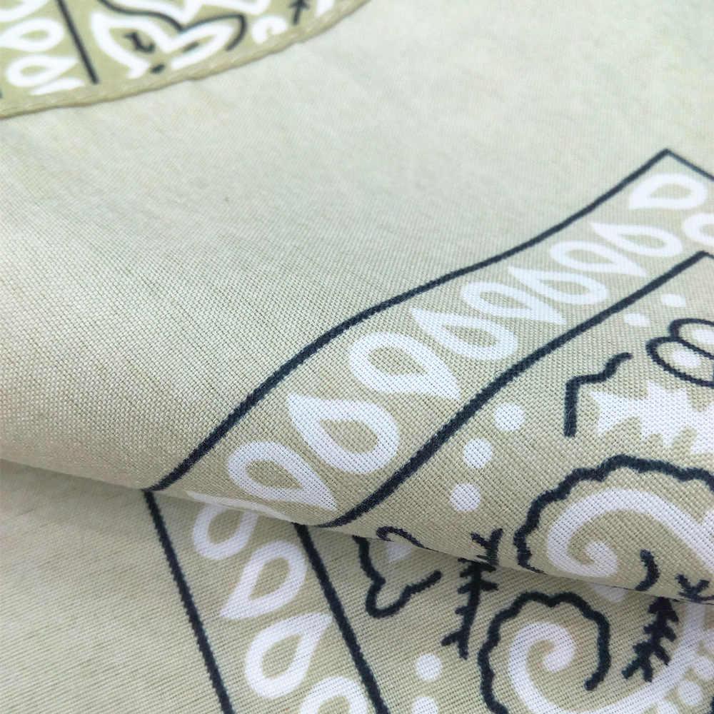 55*55 cm impreso cuadrado tela de lino Multi-usage cuadrado bufanda de moda tela DIY Bandanas diadema Ropa Decoración