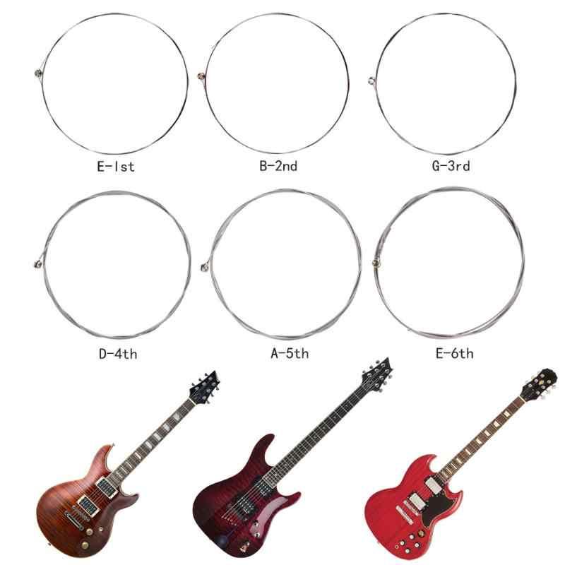 1 pièces Durable Guitare Cordes 6 Type EW Série En Acier Au Carbone Cordes Guitare Électrique Cordes Pour Guitare EW7300