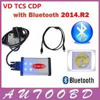 2014.2 R2 CD + 무료 활성화 LED 자동차 + 트럭 TCS CDP 프로 + 블루투스 비행 말하는 기능 자동 진단 도구