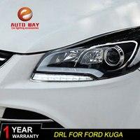 Free shipping 12V 6000k LED DRL Daytime running light case for Ford Kuga 2013 2015 fog lamp frame Ford Kuga Fog light