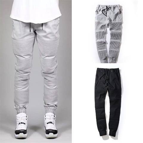 Fashion Biker Joggers Jogging Slim Fit Skinny Sweatpants Harem Pants Man Hip Hop Swag Clothes Clothing Men Gray Black Kanye West - PERD-ONTOO Store store