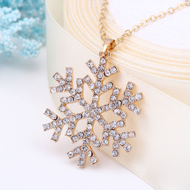 Cheap fashion jewelry CZ Crystal charm necklaces snowflake necklace for christmas flower pendants necklace bijoux colliers 2015 2
