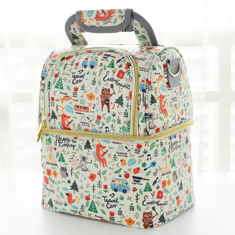 Sac à couches Cartoon bébé sacs pour maman sac à couches sac à dos Portable fourre-tout sac de maternité bébé organisateur bébé choses stockage