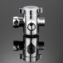 3 Way Adjustable Shower Arm Mounted Head Diverter Switch Adapter Valve
