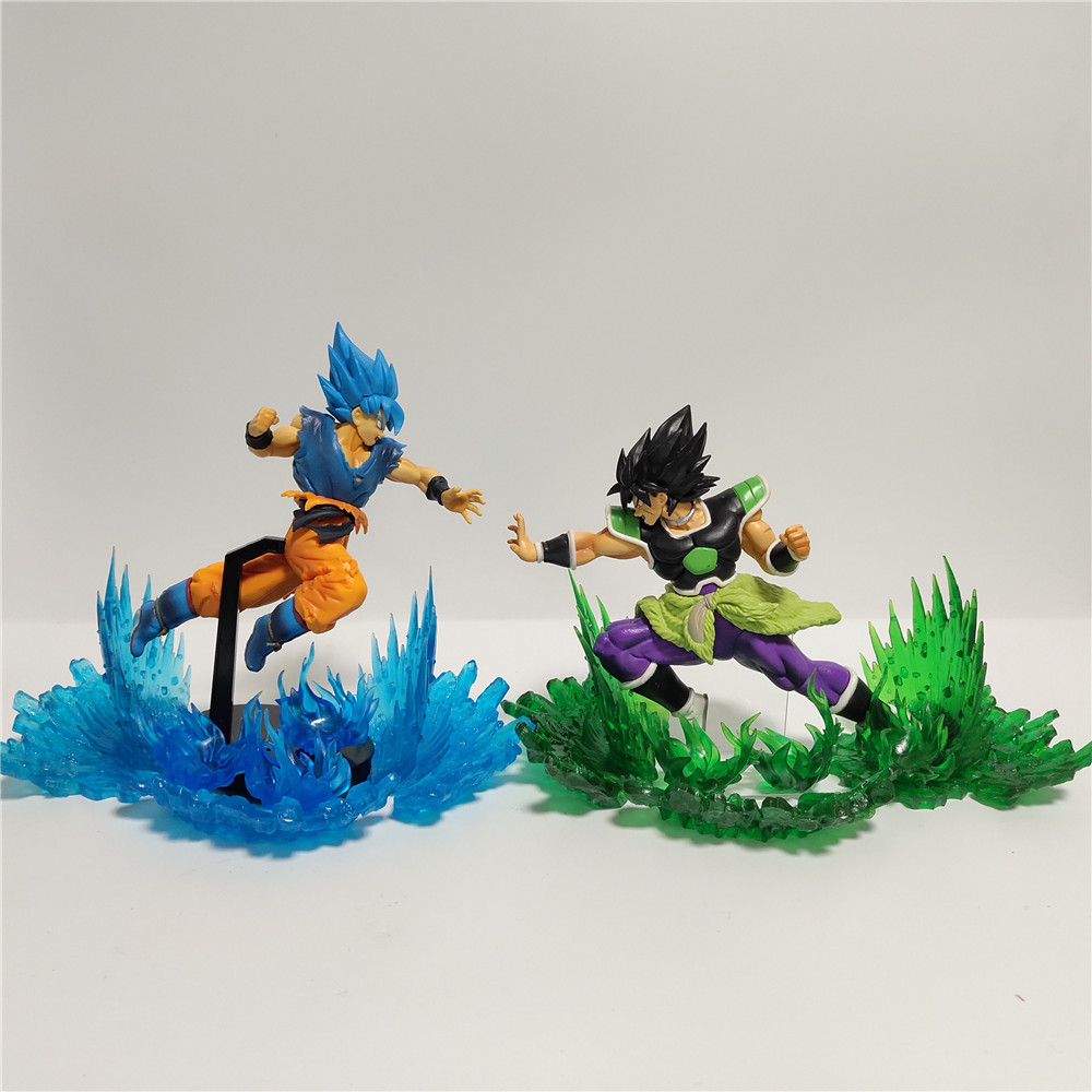 Dragon Ball Figura Super Broly VS dieu Goku Figurine animé Dragon Ball Z figurines Super Broly fils Goku jouets Figurine DBZ XP