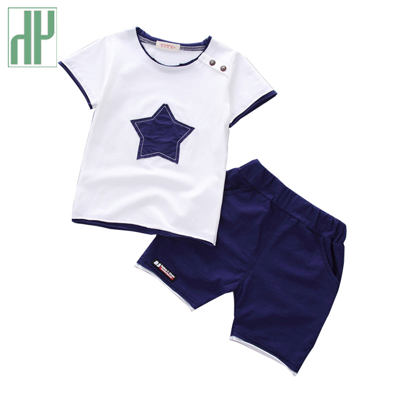 HH Baby boy clothes 2018 Brand Star Printed 2PCS Outfit Toddler baby girl clothing newborn sport suits summer children clothing