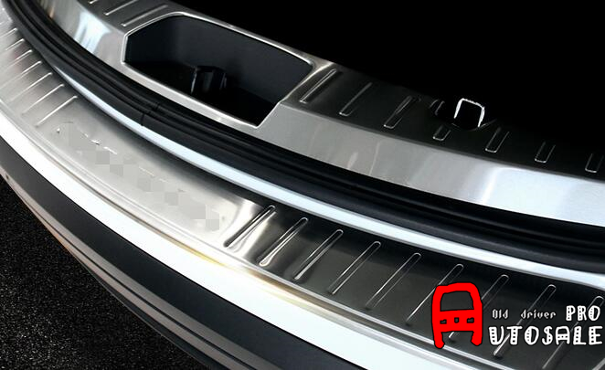Stainless Steel Inner & Outer Rear Bumper Protector threshold Sill plate Guard cover 2pcs for Ford explorer 2016 stainless steel rear outer bumper protector guard plate for jeep grand cherokee 2014