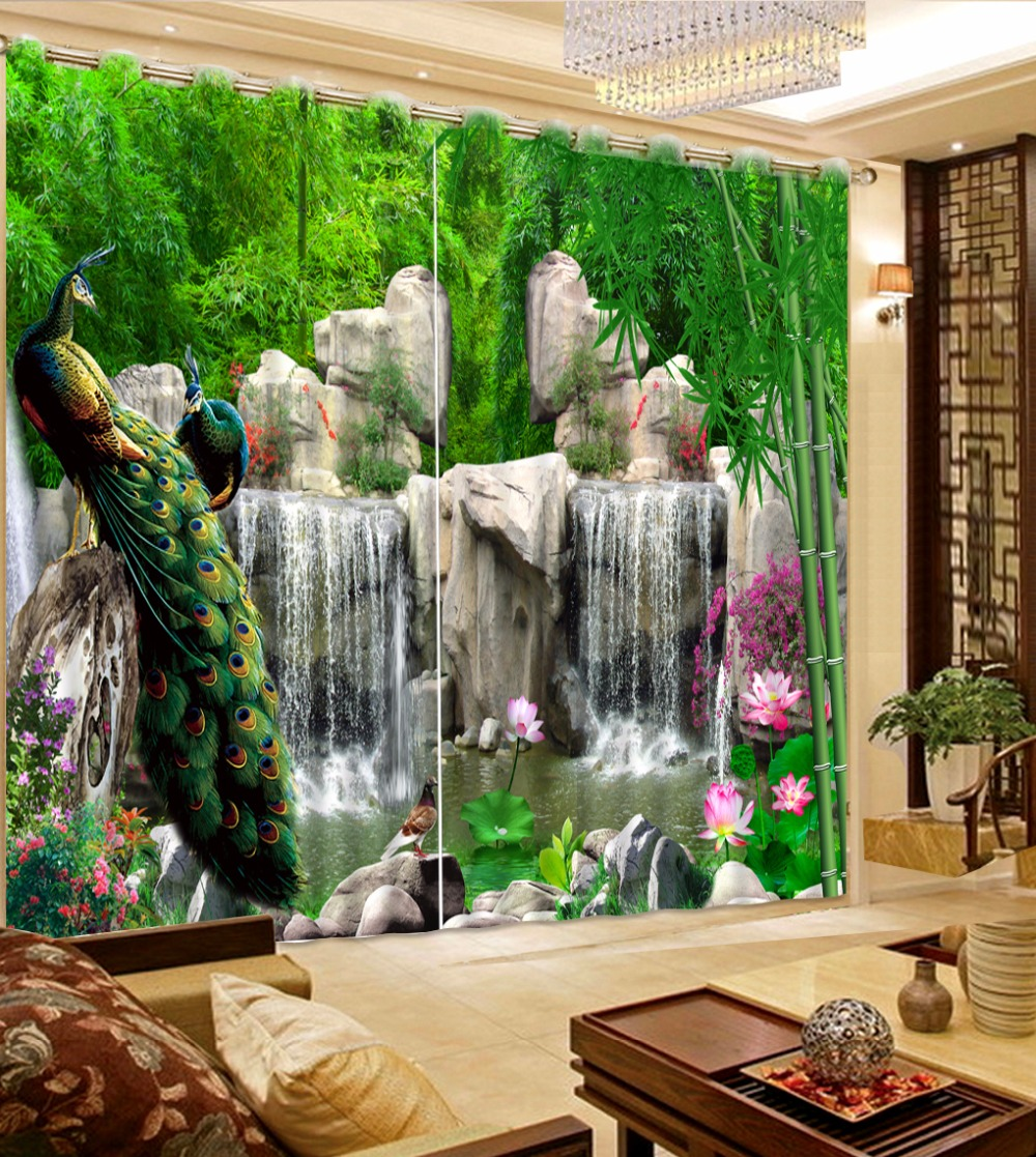 Peacock Living Room Online Get Cheap Peacock Curtains Aliexpresscom Alibaba Group