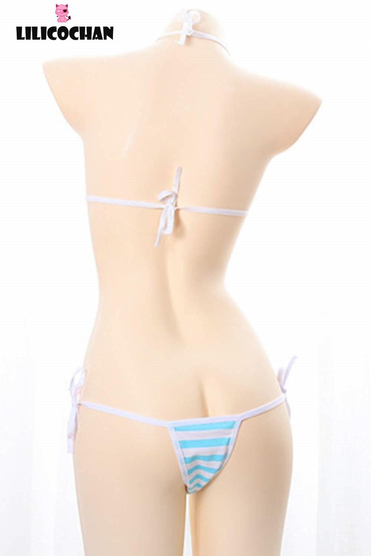 Милый кавайный японский стиль сексуальные полосатые хлопковые трусики бикини нижнее белье для косплея 14