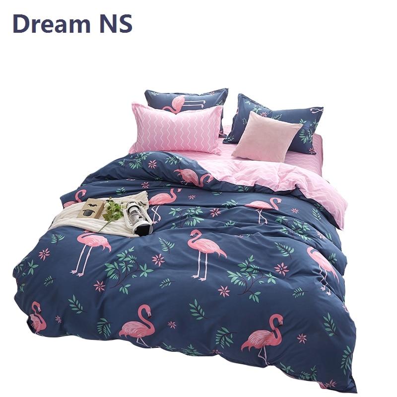 Dream NS Flamingo Duvet Cover Set Bird Bedding Sets King Queen Size Euro Parure de Lit Adulte Soft Fabric Bedspreads