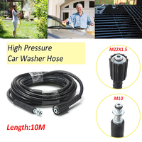 32Ft 10M High Pressure Washer Hose 160bar / 2320psi Car Wash Cleaning Water Hose Black Fit For Karcher K2 K3 K4 K5 K6 K7