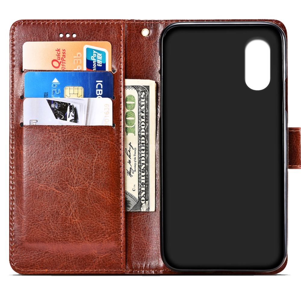 SRHE For Doogee X55 Case Cover Flip Leather Card Wallet Silicone Cover For Doogee X55 Case With Magnet Holder