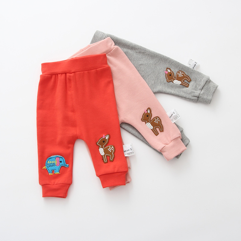Casual Toddler Trousers Baby Bottoms Pants Infant Boys Girls Cartoon Cute elephant deer sports Pants baby clothes drop shipping (16)