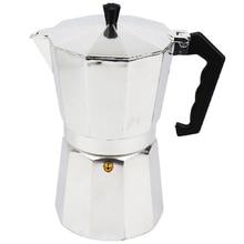 Плитой percolator латте мока эспрессо чайник алюминий чашки горшок кофе