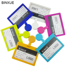 BINXUE access control Cover card ID holder Employees Retractable Badge business transverse display brand