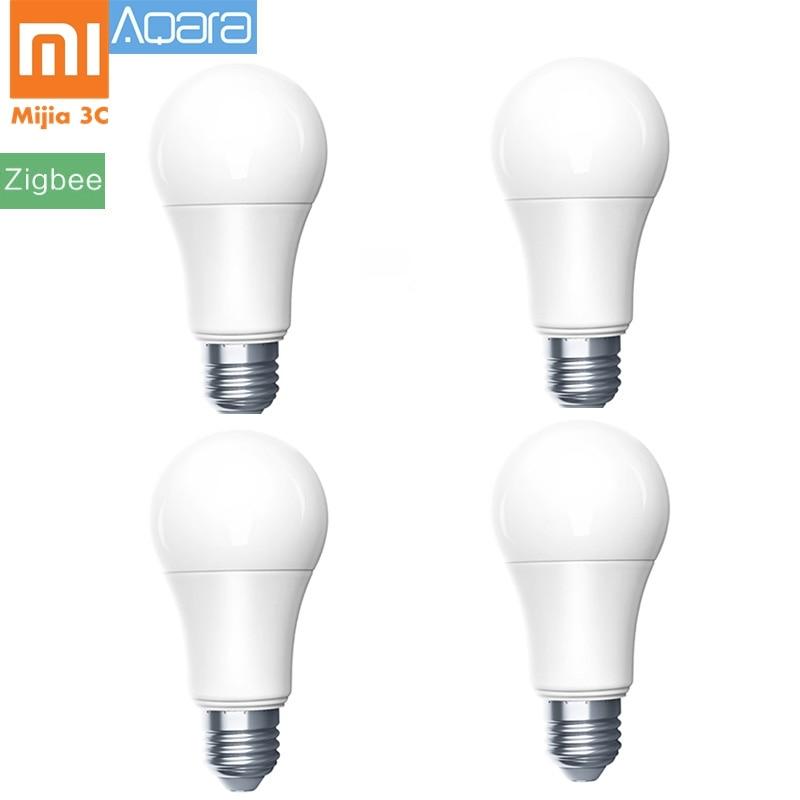 4pcs Original Xiaomi Mijia Aqara Bulb Zigbee Version Smart Remote LED Bulb Xiomi Lamp Light for
