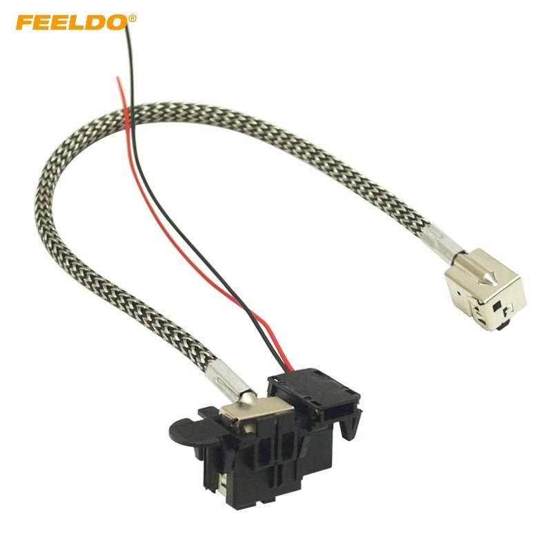 feeldo 1pc power cord wire harness for hella factory original d1s oem xenon  hid ballast #