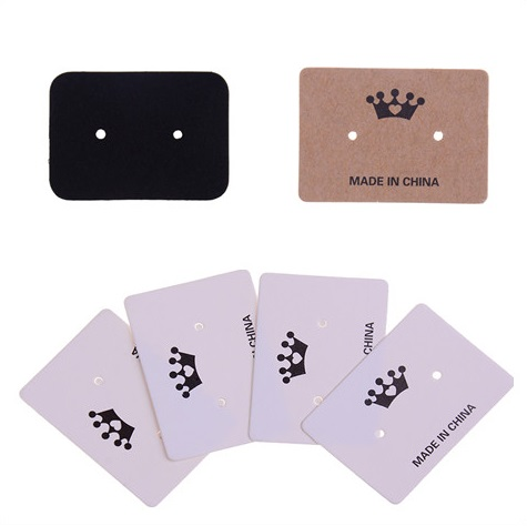 100Pcs Stud Earring Hangtag Jewelry Display Multi Color Paper Card Cute Custom Logo Cost Extra Packing Card 3.5*2.5cm image
