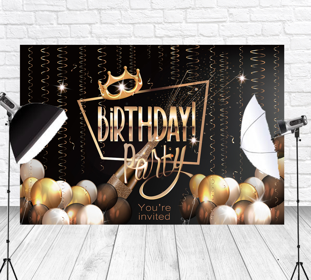 Black And Gold Birthday Party Decorations For Women