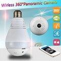 1.3MP 360 Grad Wireless IP Kamera Fisheye Panorama Überwachungskamera Wifi nachtsicht Birne Lampe Cctv kamera P2P|camera p2p|camera wificamera fisheye -