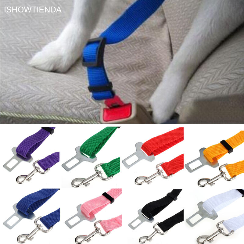 Ishowtienda 2.4cm New Home Car Pet Cat Dog Cinturon De Seguridad Para Safety Care Pets Vehicle Car Seatbelt Harness Lead Clip