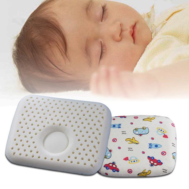 Travesseiro para o bebê 30 cm * 26 cm dos desenhos animados do bebê pillow posicionador sono cabeça posicionador travesseiro de látex dos desenhos animados bebê recém-nascido para o bebê