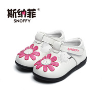 Snoffy 1 3 Years Toddler Baby Shoes Soft Sole Girls Patent Leather Shoes Spring Flower Infant