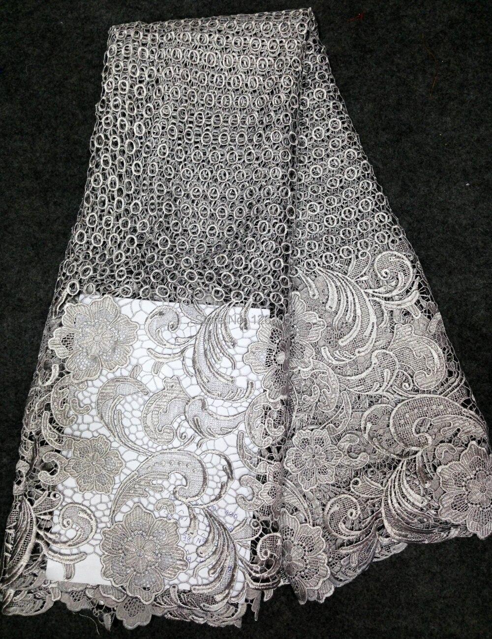 Vysoce kvalitní pěkná bavlněná síť Guipure Swiss Voile African Cord Lace Fabric v oranžové barvě pro šití svatebních dárkových šatů # C001
