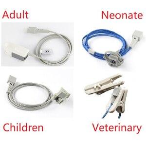 Image 1 - Датчик Spo2 для ветеринарного или человеческого взрослого ребенка новорожденного, совместимый с Mindry или Edan Монитор пациента или ручной пульсоксиметр