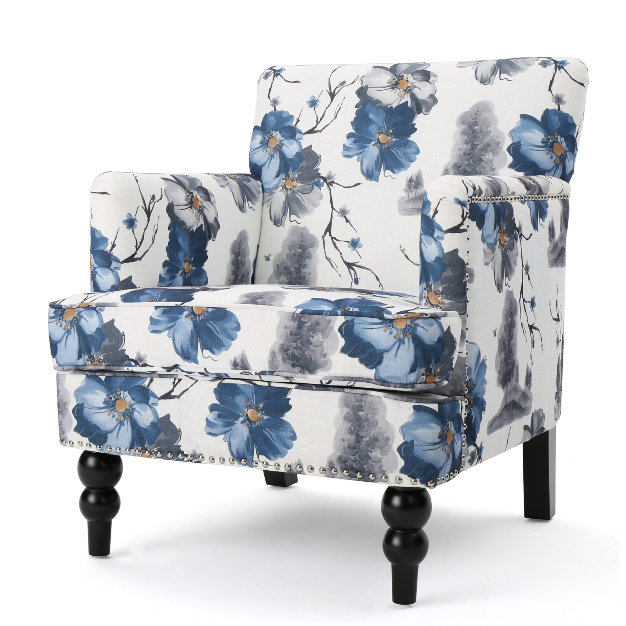 Manon Floral Print Fabric Club Chair шины pirelli p zero 235 60 r17 102y