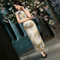 Cheongsam Dress Long Chinese Traditional Dress Tang suit Qipao Chinese Oriental Clothing Online Store Painting Printed