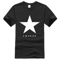 Hot Summer 2017 Men S T Shirts David Bowie Heroes Black Star Logo Fashion T Shirt