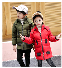 2018 New Children Jackets Boys Girls Winter down coat Baby Winter Coat Kids warm outerwear Hooded Coat snowsuit Overcoat Clothes