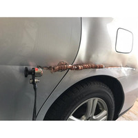 Kit de anillos extractores de abolladuras consumibles de soldadura soldador cuerpo del coche Panel que tira de acero recubierto de cobre