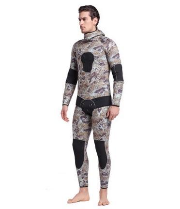 Mannen Hooded Neopreen 5 MM Scuba Nat Duikuitrusting Snorkelen - Sportkleding en accessoires - Foto 2