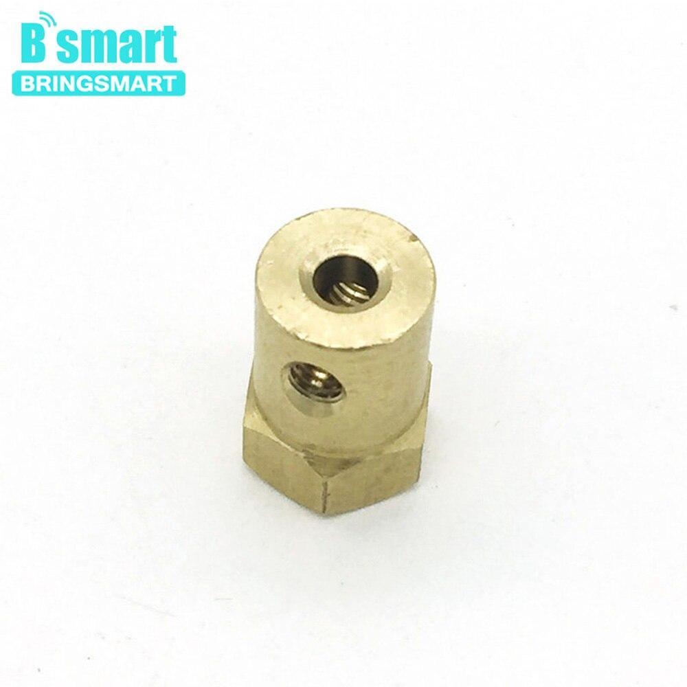 Helder Groothandel 2 Pcs 4mm 3mm Ronde/d Vorm As Diameter Gear Motor Askoppeling 6mm + Schroef Voor Diy Speelgoed Auto Motor Xpower