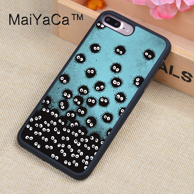 07673faaecc MaiYaCa Spirited Away SOOT SPRITES Soft Rubber Fitted Cases For iPhone  8plus Cover OEM For Apple