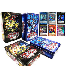 60PCS/Set English Yugioh Flash Cards With Fine Metal Box Collection Card Yu Gi Oh Game Paper Cards Toys For Children Gift(China)