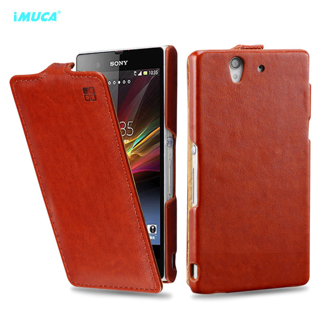 for Sony Xperia Z case flip leather cover for sony xperia z L36h L36i C6602 C6603 imuca case phone cover accessories&bag