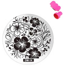 60Designs Nail Art Stamping 1pcs Stamp Image Plates and Scraper Template Set for Manicure DIY Nail Polish Konad Mould Tools