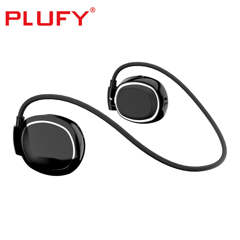 PLUFY Wireless Touch Bluetooth Earphone Waterproof Sport Stereo Noise Cancelling Ear Hook Headphones with Mic for Iphone Android ultra light noise cancelling bluetooth earphone with mic