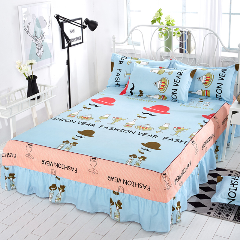 Bed Skirt Piece Princess Bed Cover Sheets Fitted 1.8/1.5/2.0m Meters Falda De Cama
