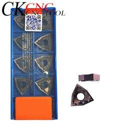 10 шт. высокое качество WNMG080404 WNMG080408 HA PC9030 внешний твердосплавный инструмент для обработки деталей вращения вставка для вольфрамового резака...