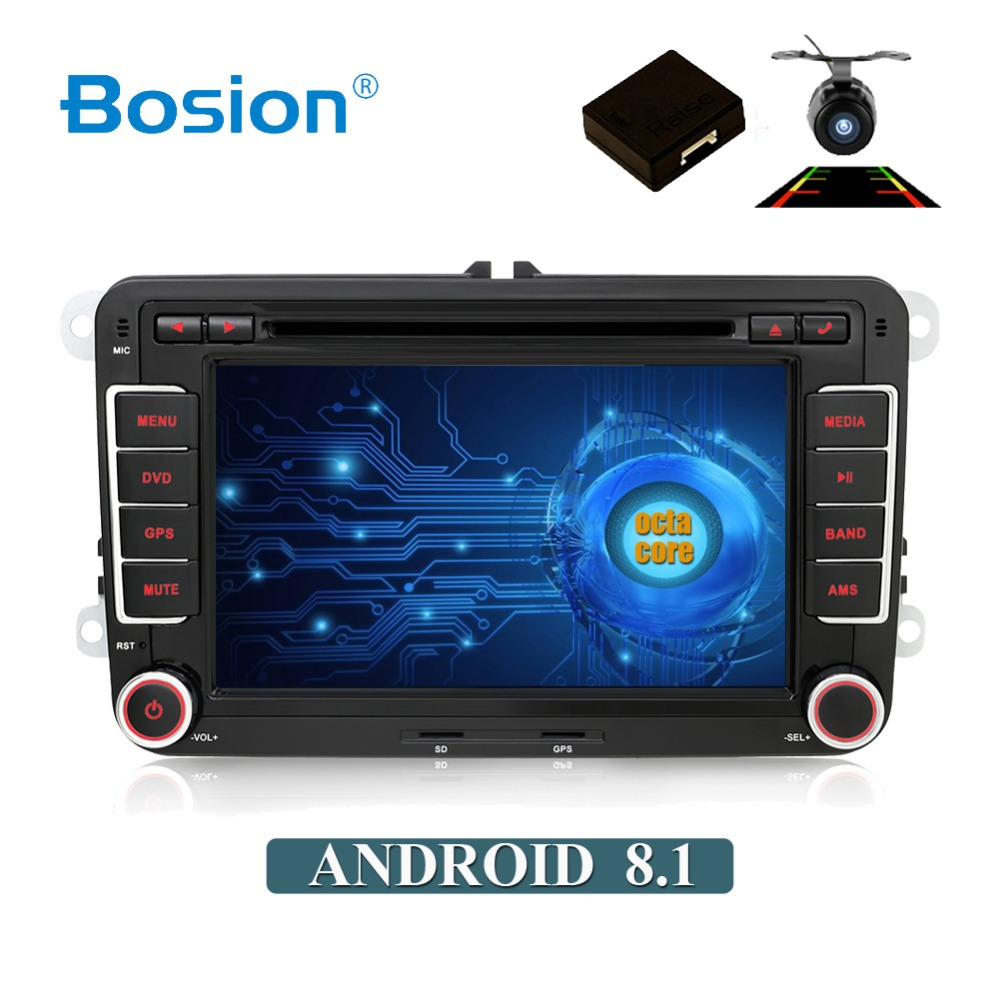 Lecteur DVD de voiture Android 8.1 avec noyau Octa 2 din pour Volkswagen Passat CC Polo GOLF 5 6 Touran EOS T5 Sharan Tiguan Radio