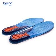 Bocan gel sport insoles Massaging Silicone Insoles Deodorant Pads Orthopedic Plantar Fasciitis Running shoe Insoles 2 sizes 6631