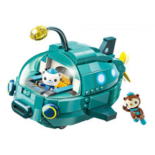 Enlighten Creator City Octonauts Cartoon Lantern fish boat GUP-A GUP-S Building Blocks Sets Bricks Model Toys for Children gift original octonauts gup h and barnacles vehicle figures toy bath toy child toys