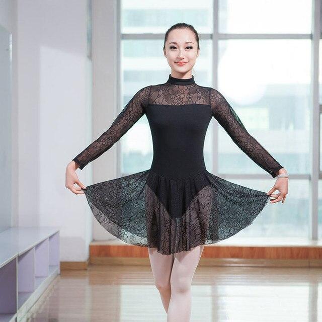 New Ballet Women Leotard Adult High Quality Elegant Lace Ballet Dress  Dancing Costume Gymnastics Leotards Women s Dance Wear 569cd0887